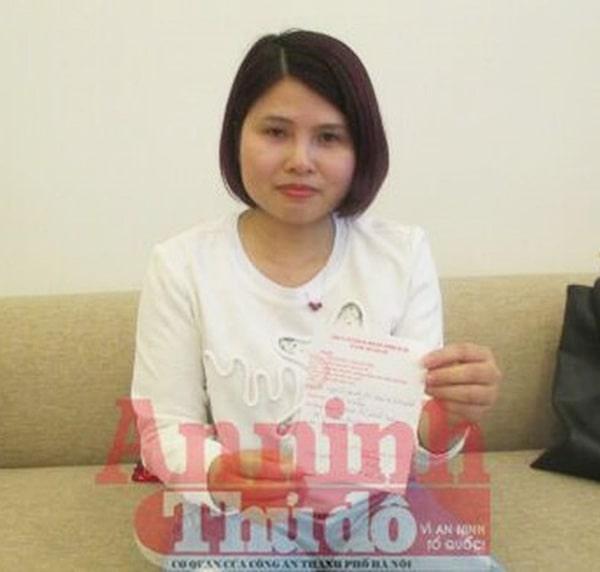 Hình ảnh Chị Nguyễn Thị Thắm rất búc xúc trình báo