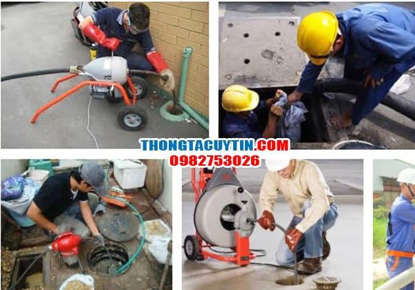 Sử dụng dịch vụ thông tắc cống chuyên nghiệp tại Hà Nội: