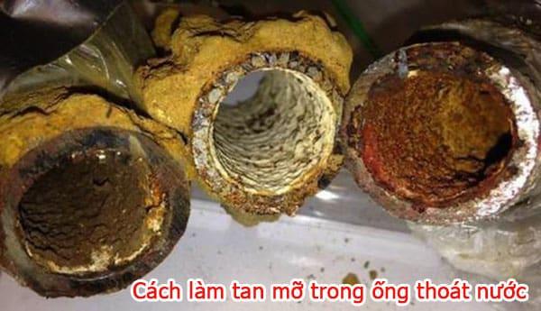 Chia sẻ cách làm tan mỡ trong ống thoát nước đơn gian tại nhà